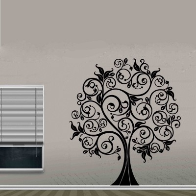 Ethnic Tree 2 Wall Sticker Decal-Small-Black