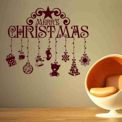 Christmas Gifts Wall Sticker Decal-Small-Burgundy