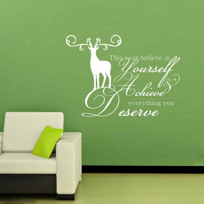 Achieve What You Deserve Wall Sticker Decal-Small-White