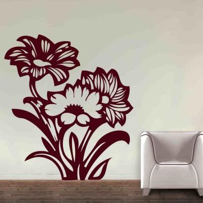 Mystique Flower Wall Sticker Decal-Small-Burgundy