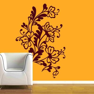 Flower Web Wall Sticker Decal-Small-Burgundy