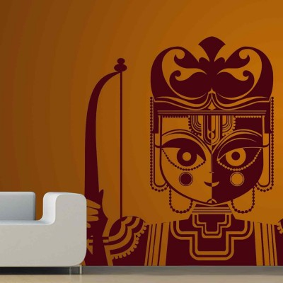 Lord Rama Wall Sticker Decal-Small-Burgundy
