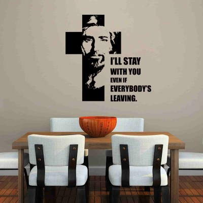 Christ I Will Stay Wall Sticker Decal-Small-Black