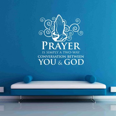 Prayer Wall Sticker Decal-Small-White