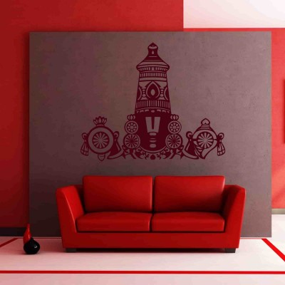 Balaji Wall Sticker Decal-Small-Burgundy
