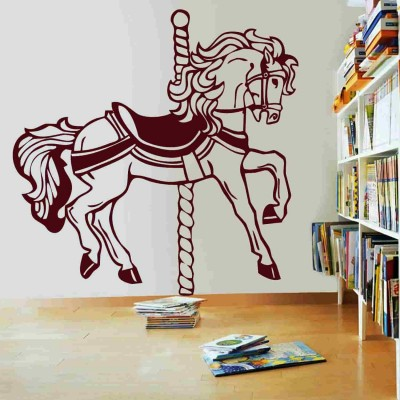 Carousel Wall Sticker Decal-Small-Burgundy