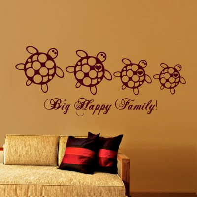 Big Happy Family  Wall Sticker Decal-Small-Burgundy