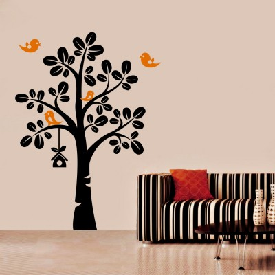 Birds Home Wall Sticker Decal-Small
