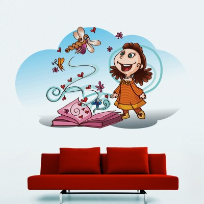 Pleasure Of Reading Wall Sticker Decal-Small
