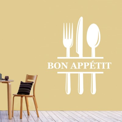 Bon Appetit Wall Sticker Decal-Small-White
