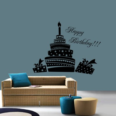 Birthday Wall Sticker Decal-Small-Black