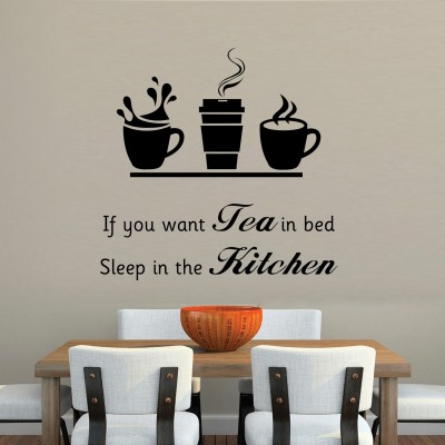 You Want Tea In Bed Wall Sticker Decal-Small-Black