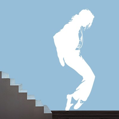 Dancing Michael Jackson Wall Sticker Decal-Small-White