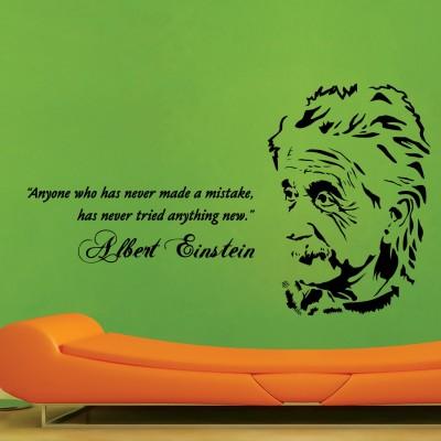 Albert Einstein Wall Sticker Decal-Small-Black