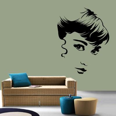 Audrey Hepburn Wall Sticker Decal-Small-Black