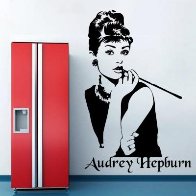 Audrey Hepburn Portrait Wall Sticker Decal-Small-Black