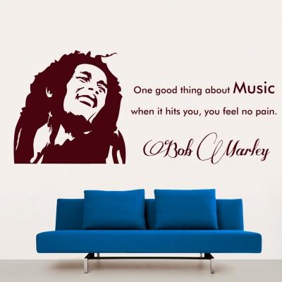 Bob Marley Wall Sticker Decal-Small-Burgundy