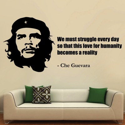 Che Guavara Wall Sticker Decal-Small-Black