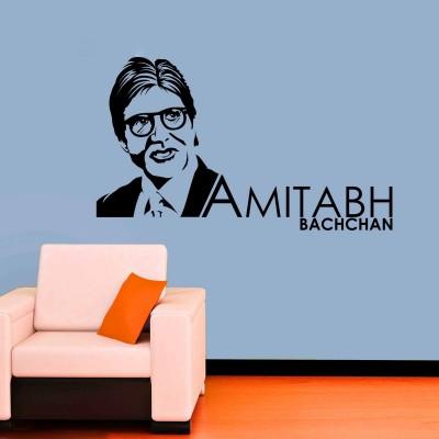 Amitabh Bachchan Wall Sticker Decal-Small-Black