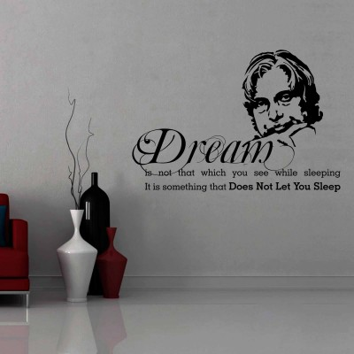 Dr Kalam Wall Sticker Decal-Small-Black
