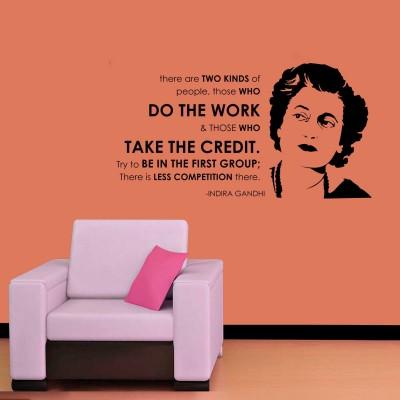 Indira Gandhi Wall Sticker Decal-Small-Black