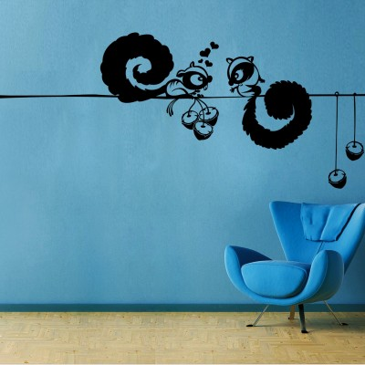 Squirral Love Wall Sticker Decal-Small-Black