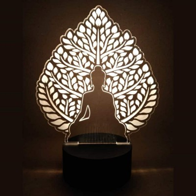 3D LED Meditating Buddha Lamp