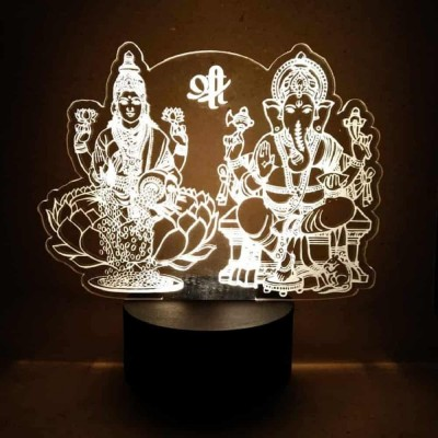 3D LED Laxmi Ganesh Lamp
