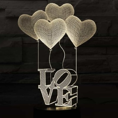 3D LED Love Heart Lamp