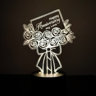 3D LED Happy Anniversary Love Lamp
