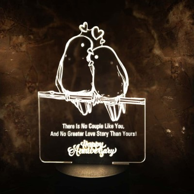 3D LED Love Birds Couple Lamp