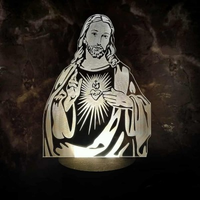 3D LED Jesus Lamp