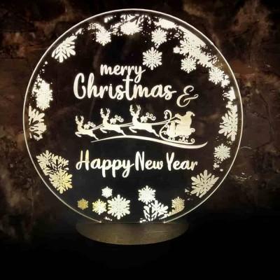 3D LED Christmas Reindeer Lamp