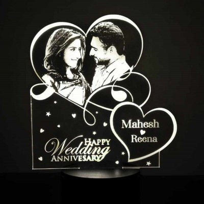 3D LED Personalized Anniversary Name Lamp