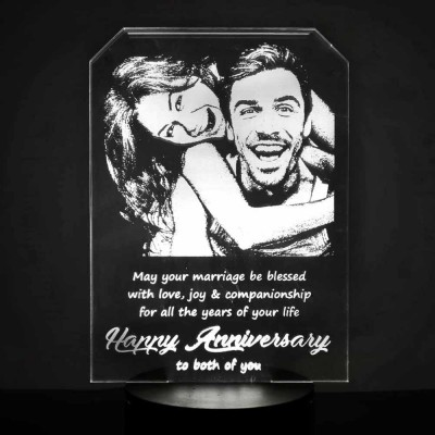 3D LED Personalized Anniversary Lamp Style 1