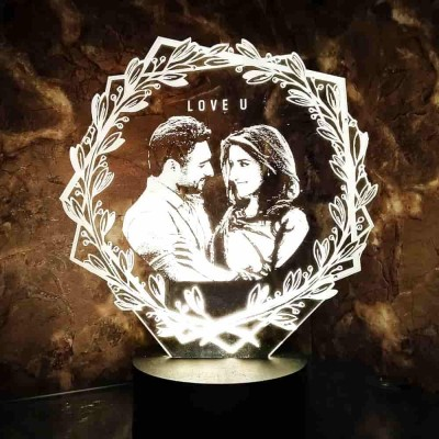 3D LED Personalized Love You Floral Lamp