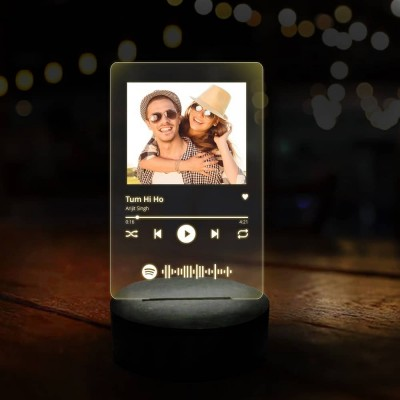 3D LED Personalized Photo and Song Lamp with Spotify Link