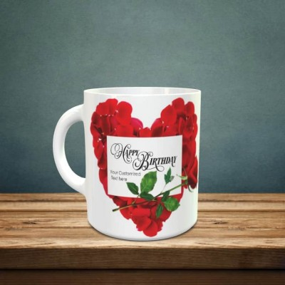 Happy Birthday Mug with Personalized text