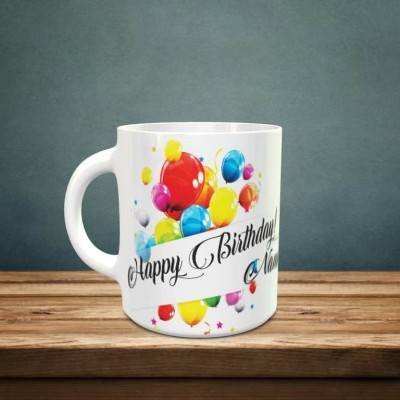 Personalized Birthday Mug with name and text