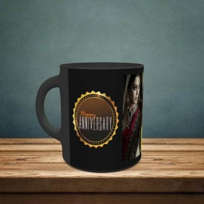 Personalized 4 Pic Anniversary Mug Style 1