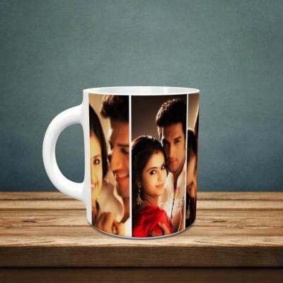 Personalized 4 Pic Anniversary Mug Style 2