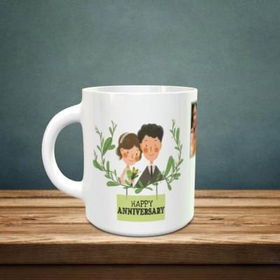 Personalized 5 Pic Anniversary Mug