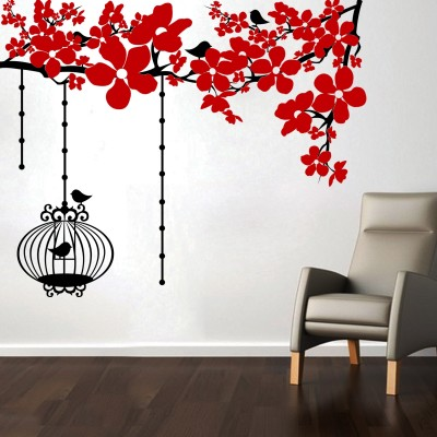 Chinese Flowers Wall Sticker Decal-Small