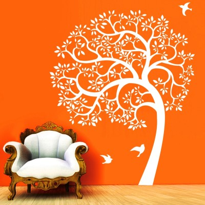 Morning With Nature Wall Sticker Decal-Small-White