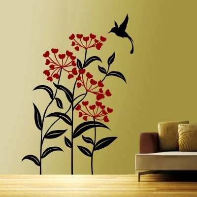 Blooming Flowers 2 Wall Sticker Decal-Small