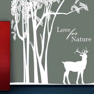 Love For Nature Wall Sticker Decal-Small-White
