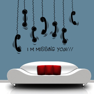 Missing You Wall Sticker Decal-Medium-Black