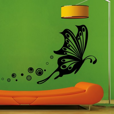 Butterfly Flight Wall Sticker Decal-Medium-Black