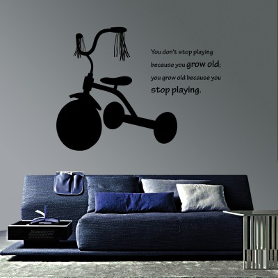 My First Tricycle Wall Sticker Decal-Small-Black