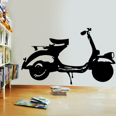 My First Scooter Wall Sticker Decal-Small-Black